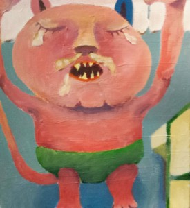 Min yngsta son Göte har varit min inspiration till denna tavla.