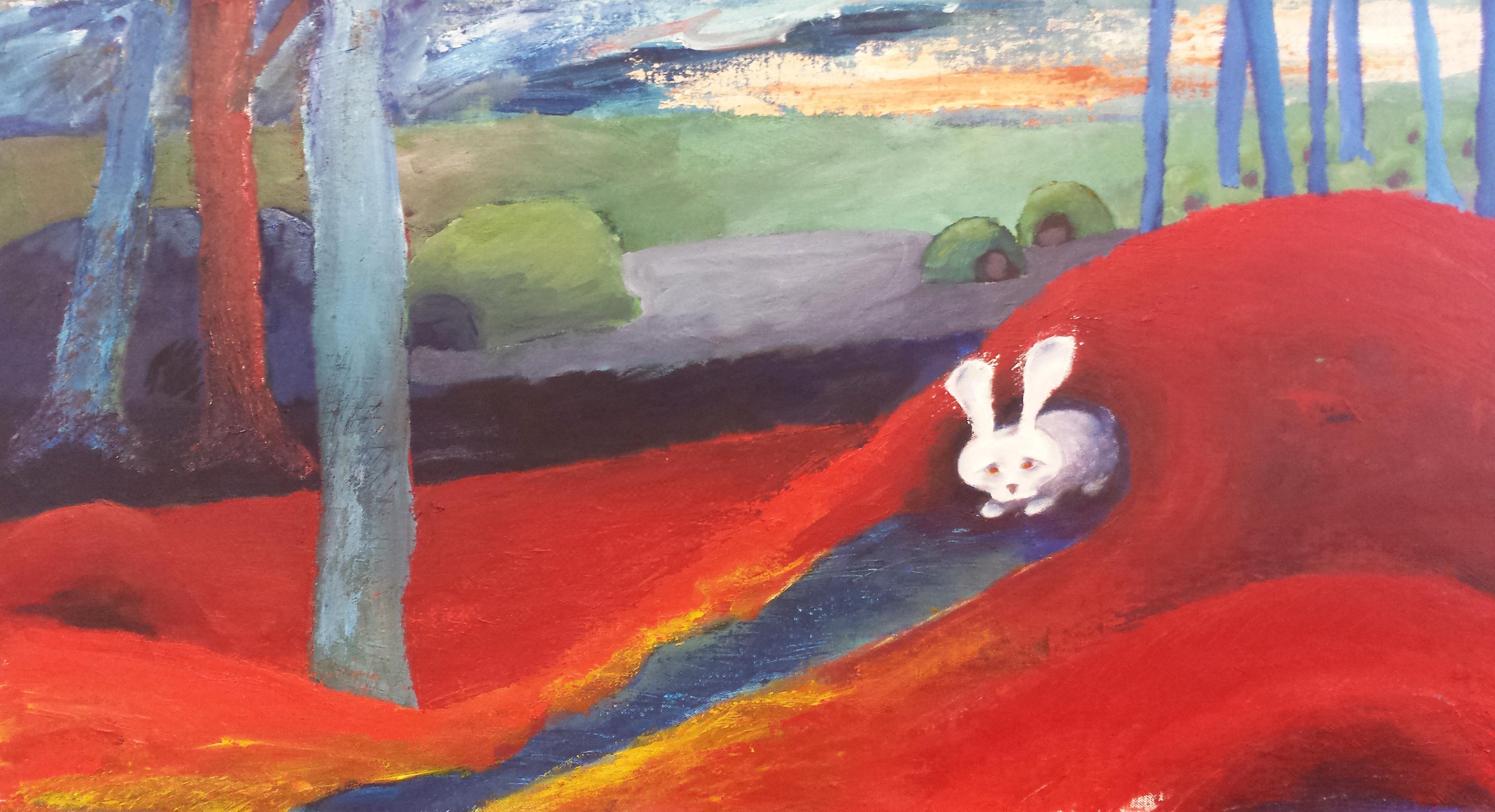 den ensamma kaninen.